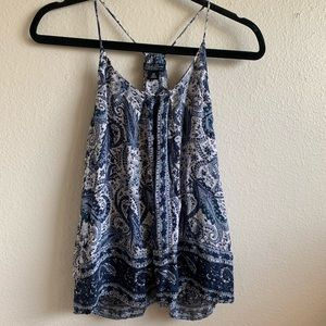 Lucky Brand blue strap blouse flowy